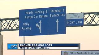 Packed parking lots at Mitchell International - Video