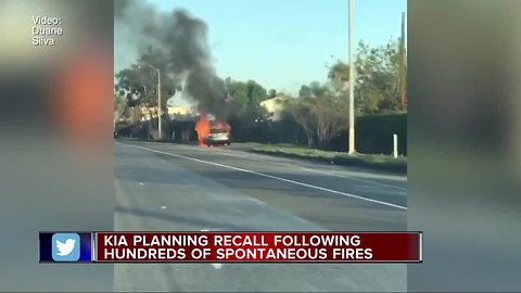 Kia planning recall following hundreds of spontaneous fires