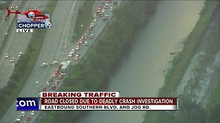 Chopper 5: Heavy delays on eastbound Southern Boulevard after fatal crash near Jog Road