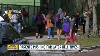 High school could start 15-20 mins later in Pinellas Co. - Video