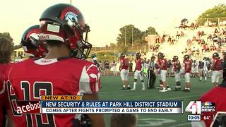 New security and rules at Park Hill District Stadium - Video