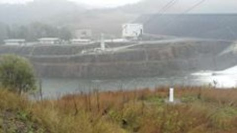 Water Spills Over Awoonga Dam During Severe Storm Weather