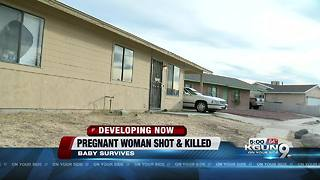 Pregnant 19-year-old woman shot and killed from outside her home, baby survives - Video