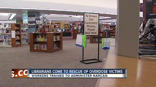 Librarians come to rescue of overdose victims - Video