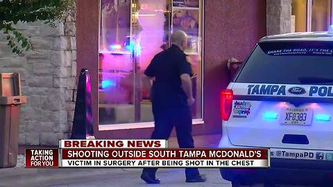 Man in critical condition after shooting outside Tampa McDonald's