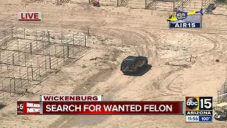 Authorities searching for wanted felon near Wickenburg - Video