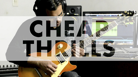 Awesome electric guitar cover of 'Cheap Thrills' by Sia