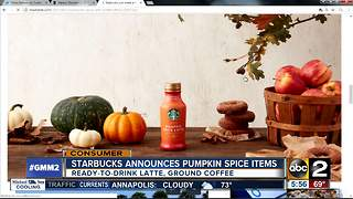 Starbucks announces two pumpkin spice products - Video