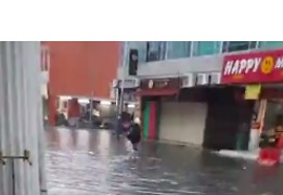 Penang's Kimberly Street Filled With Floodwater After Overnight Torrential Downpour