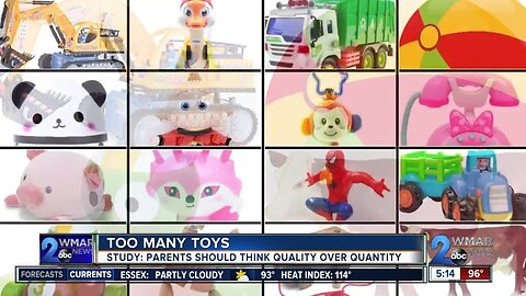 Fewer toys may lead to more constructive play