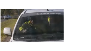 Cameras Mounted on Vehicle Capture Rear-End Collision - Video