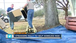 Man stopping to say hello changes life of Spring Hill homeless man - Video