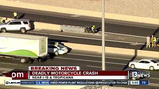 Deadly motorcycle crash near I-15 and Tropicana - Video