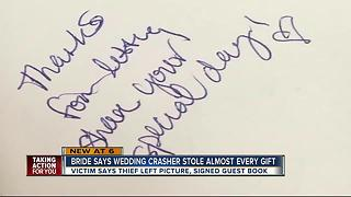 Bride: Woman crashes wedding, steals nearly all gifts