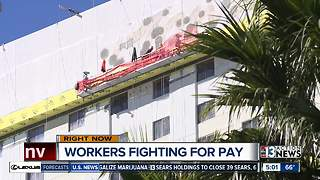 Construction workers on Strip say they haven't been paid in weeks - Video