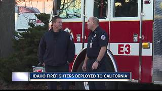 Local firefighters help battle California wildfires - Video