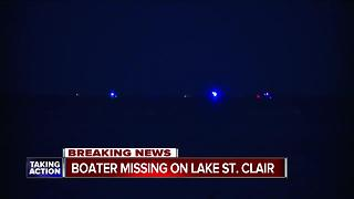 Coast Guard, deputies search for missing boater near Lake St. Clair Metropark - Video