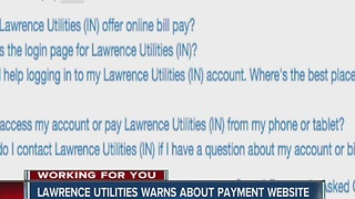 Lawrence utilities warns about payment website - Video