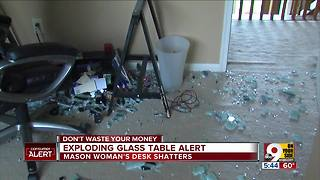 IKEA glass table top exploded,  Ohio woman says - Video