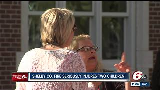 House fire seriously injures two children - Video