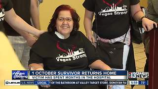 Mom shot during 1 October finally returns home after 131 days in hospital - Video