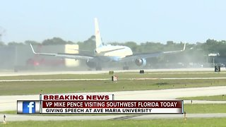 VP Mike Pence arrives in Naples for speech in Ave Maria