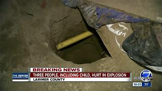 3 injured after home explosion in Larimer County
