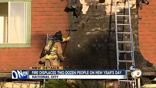 Fire displaces two dozen people on New Year's Day
