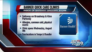 Banner joins with Safeway to open clinics - Video