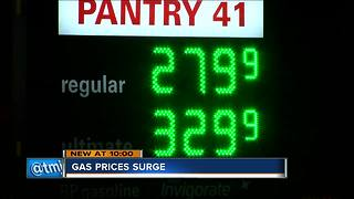 Gas prices spike by 30 cents in Milwaukee - Video