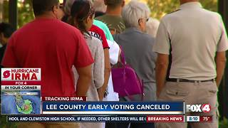 Hurricane Irma: Lee County early voting canceled - Video