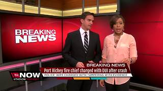 Port Richey fire chief charged with DUI after crash - Video
