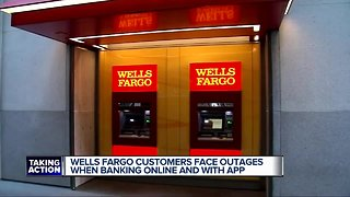 Wells Fargo customers face outages when banking online and with app