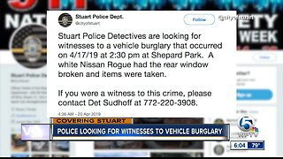Police looking for witnesses to vehicle burglary in Stuart