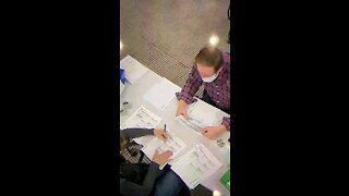 Lady Fills Out Several Ballots. Caught on Camera.