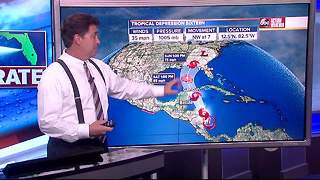 Tropical Depression 16 Forecast with Denis Phillips on Wednesday, October 4, 2017 (7PM) - Video