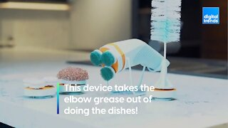 This device makes doing the dishes easy!