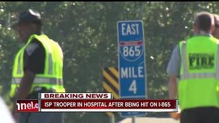ISP trooper struck while on traffic stop on I-865 - Video
