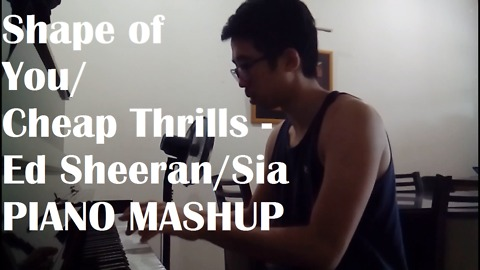 Amazing piano mashup of 'Shape Of You' & 'Cheap Thrills'