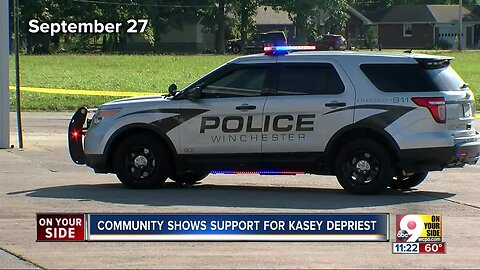 Recovering Kasey DePriest attends benefit supporting her