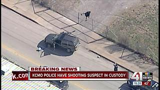Shooting suspect in custody after police chase