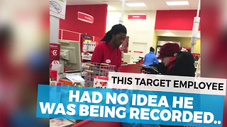 Target Cashier Had No Idea The Camera Was Recording Him - Video