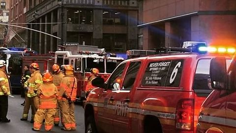 Firefighters Battle Blaze Near NYC's Grand Central Terminal