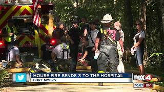 Family loses everything in house fire, 3 in hospital - Video