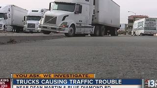 Viewer says illegally parked trucks make driving dangerous - Video