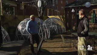 Reynolds Tavern in Annapolis creates igloos to help expand outdoor dining