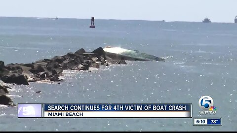 Search for fourth victim after deadly Miami Beach boat crash