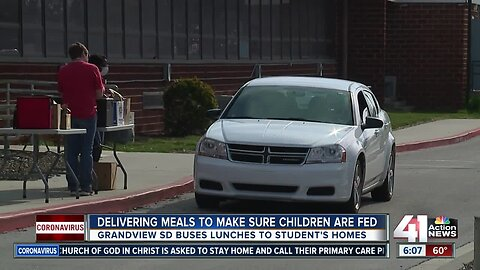 Delivering meals to make sure children are fed