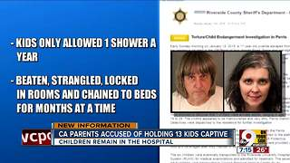 Parents accused of holding 13 kids captive - Video