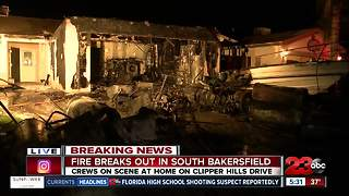 Family displaced following early morning house fire in South Bakersfield - Video